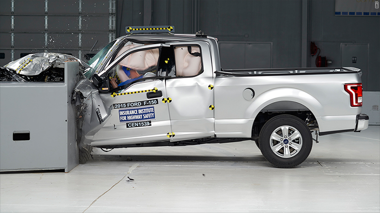 Ford aluminum body pickup gets mixed results in crash test