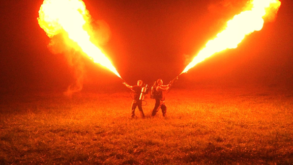 Flamethrowers, given up by military, are now being sold to the public