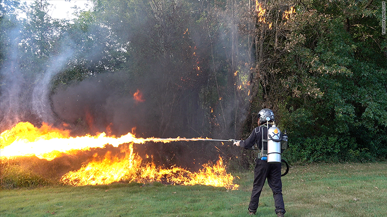 flame thrower demo