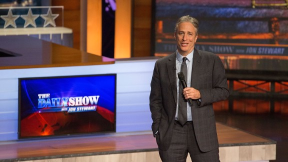 Jon Stewart signs off 'The Daily Show' with a 'love fest'