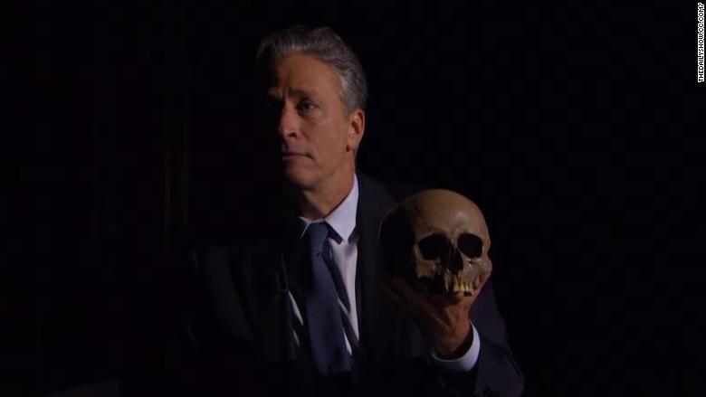jon stewart skull