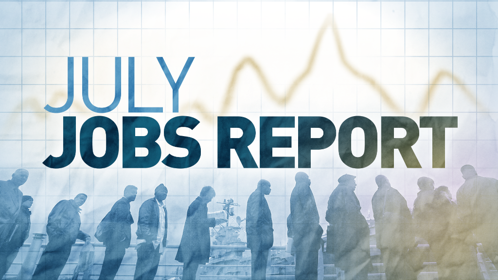 U.S. economy adds 215,000 jobs in July