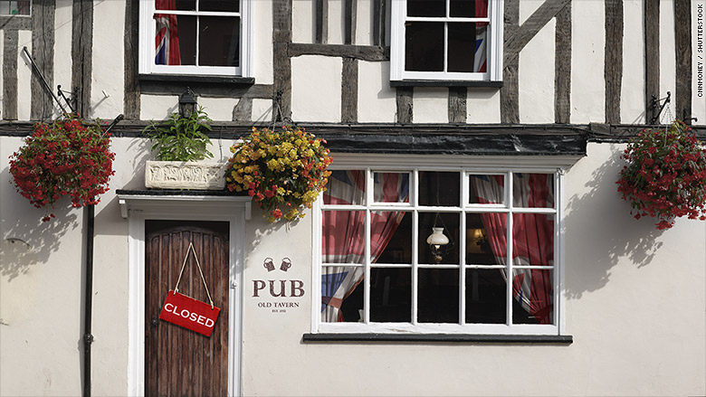 british pub closing
