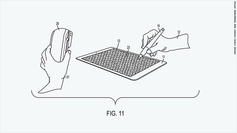 patent 2015 apple stylus method
