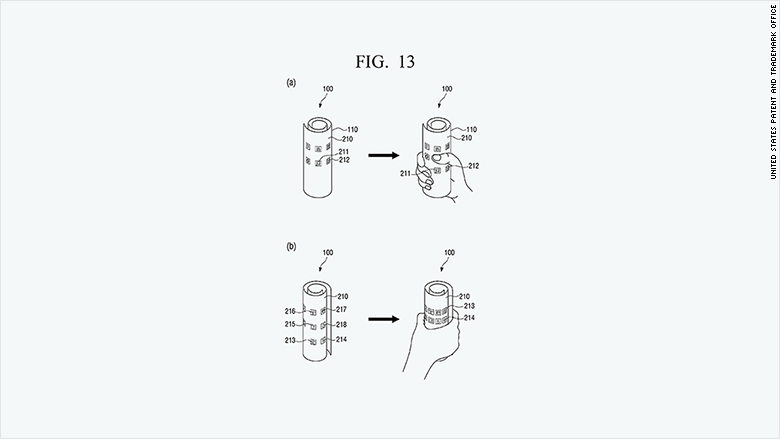 patent 2015 samsung flexible display