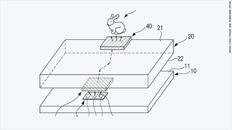 patent 2015 samsung mobile hologram