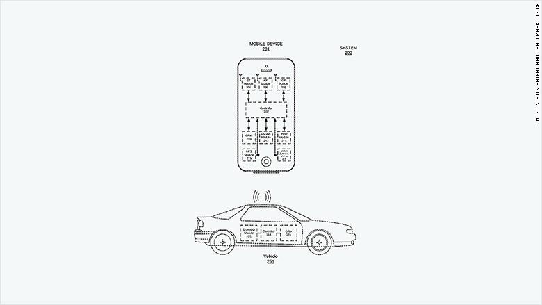patent 2015 apple vehicle location