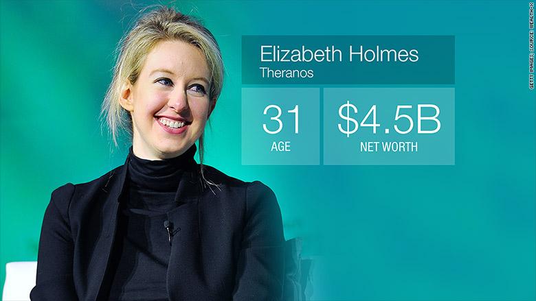 billionaire under 35 elizabeth holmes