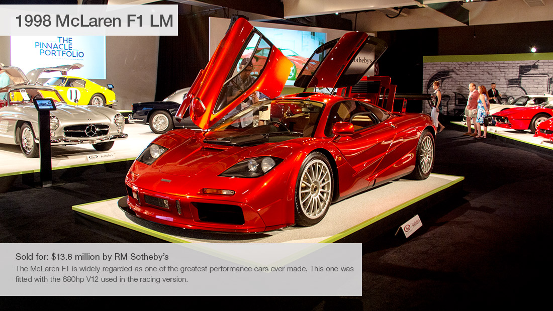 1998 Mclaren F1 Lm 10 Most Expensive Cars Sold At Pebble Beach