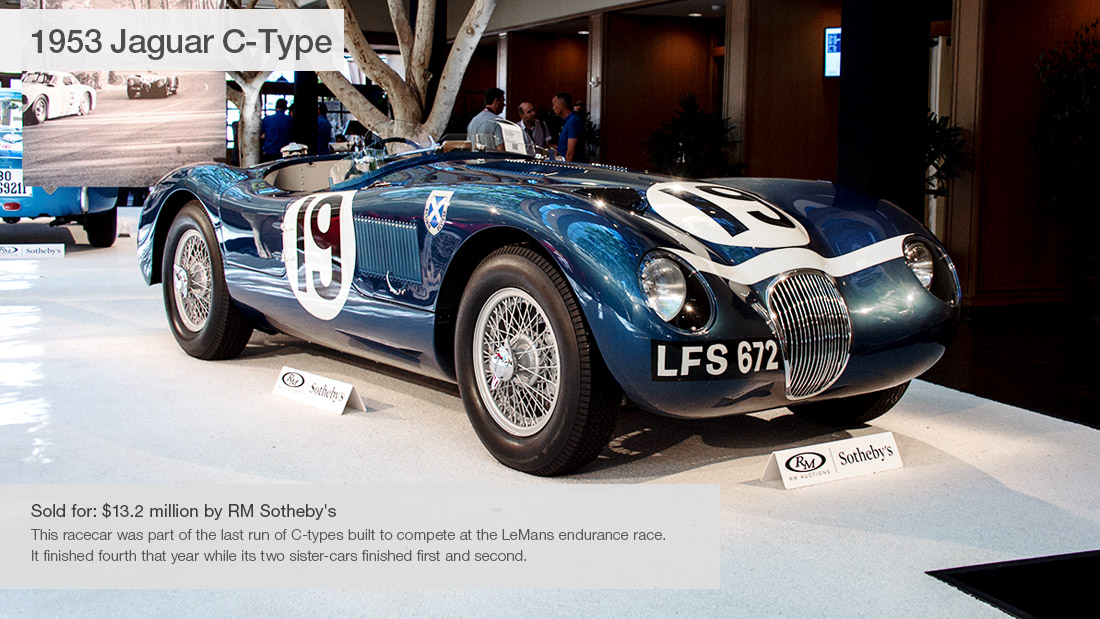 1953 Jaguar C-Type - 10 most expensive cars sold at Pebble Beach ...