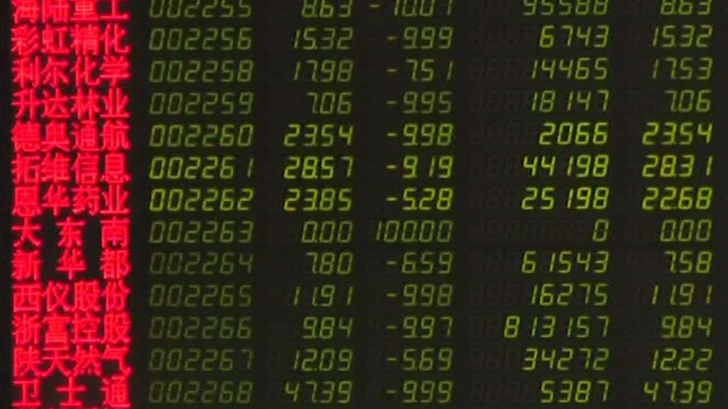 China stocks fall again, off 40% from peak