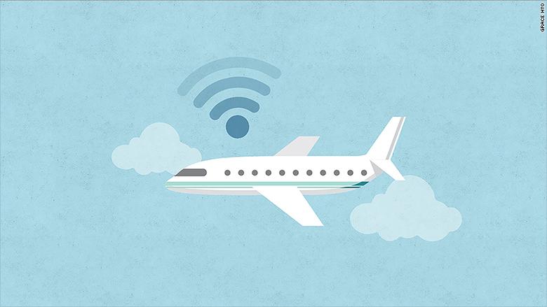 speed internet plane