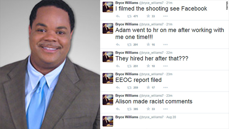 wdbj shooting tweets bryce williams