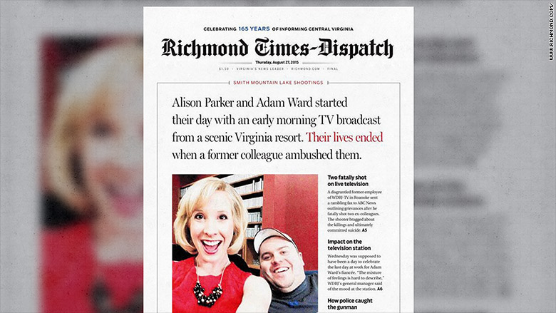 richmond times dipatch front page