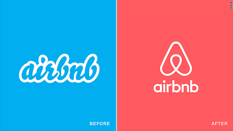 old new logos airbnb