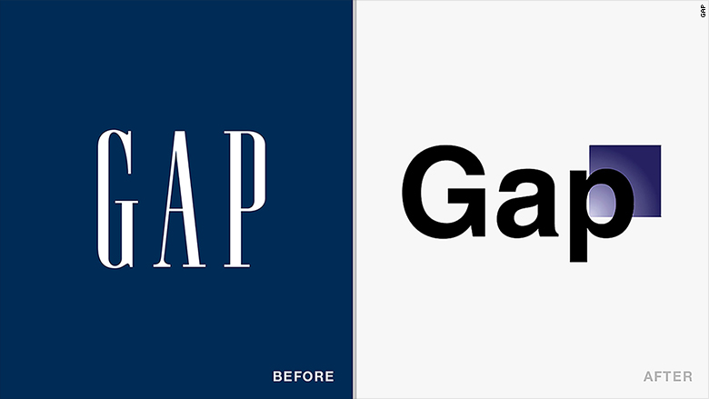 old new logos gap