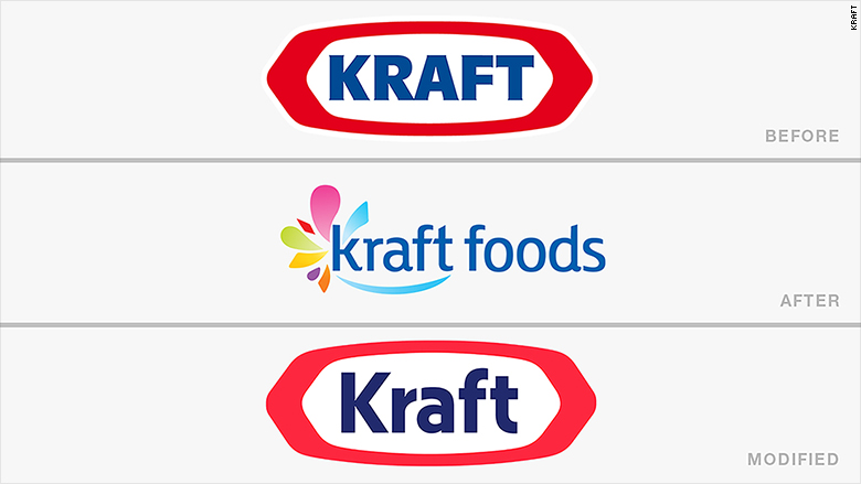 old new logos kraft
