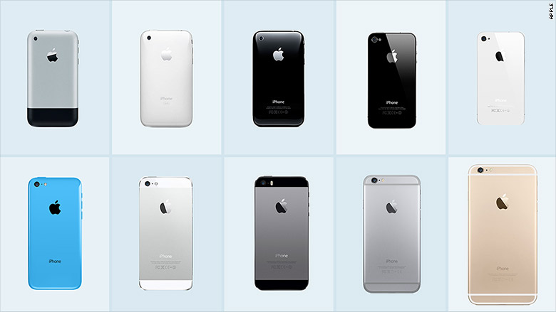 iphone through the years iphone 2007 the iphone through the years cnnmoney 7734