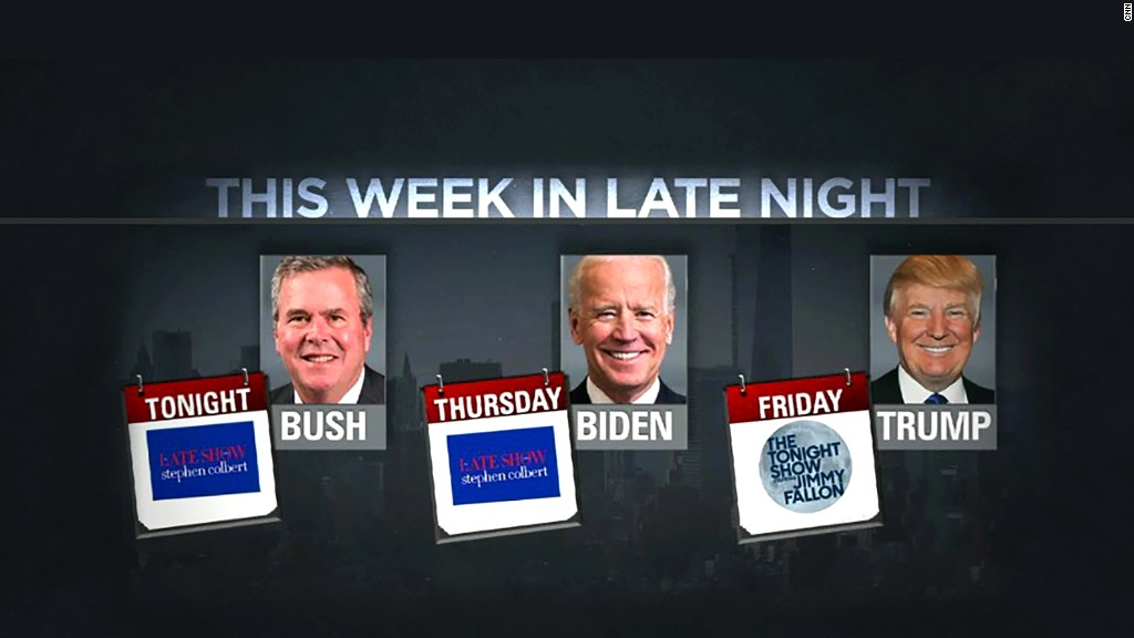 Candidates add late-night TV to campaign stops