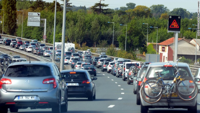 cars highway commute travel france