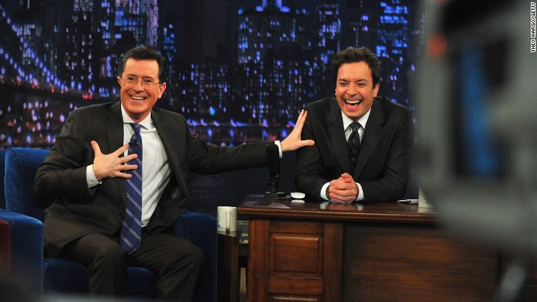 colbert fallon desk