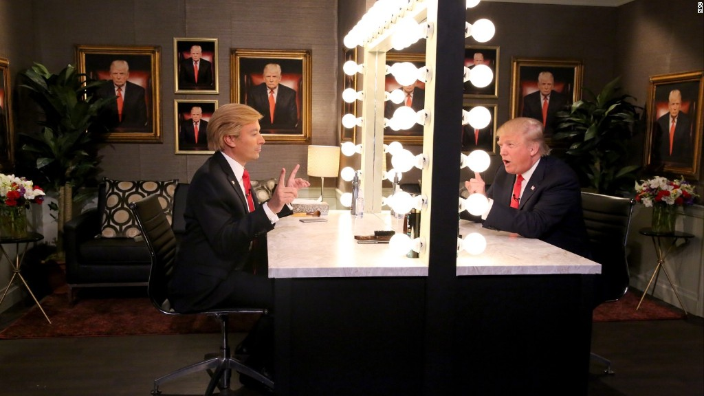 Donald Trump interviews himself on 'Tonight Show'