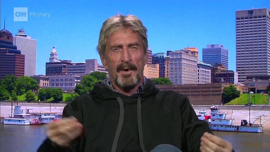 John McAfee: No shaking hands, kissing babies