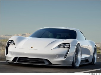 Porsche S Mission E Concept Car Is An Electric Four Door Vehicle That Could Go Head To With Tesla Model