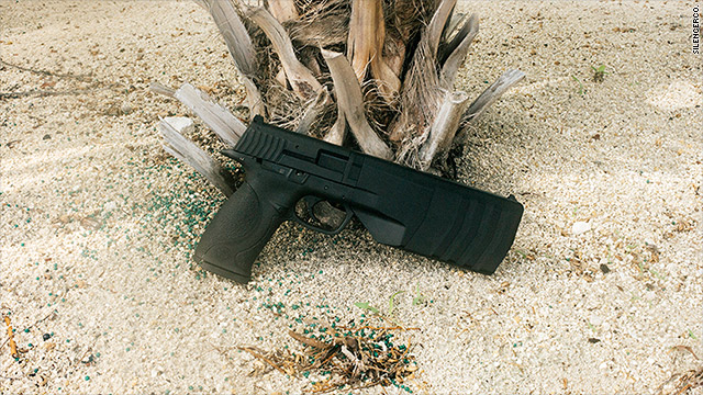 New pistol with a built-in silencer debuts