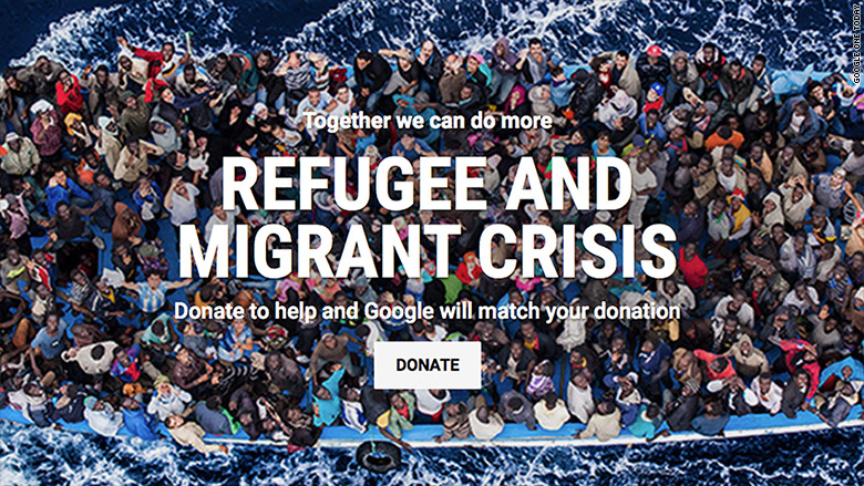 google refugee crisis donation 2