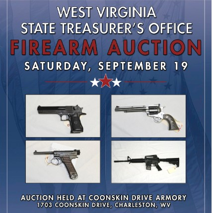 government guns firearm auction flyer