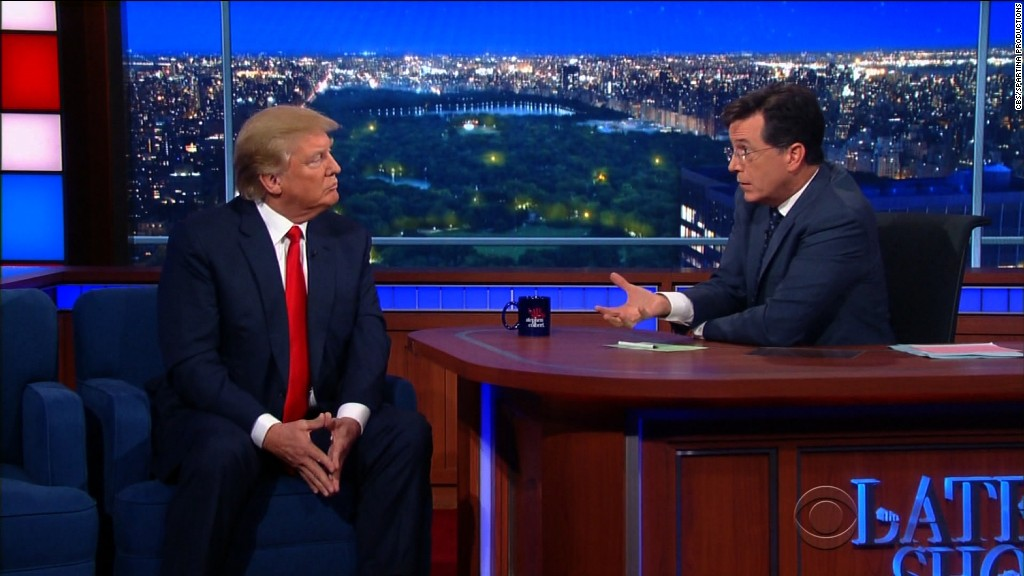 Trump dodges Colbert's question about Obama