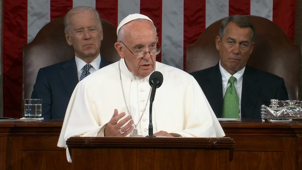 Pope Francis urges Congress to act on climate