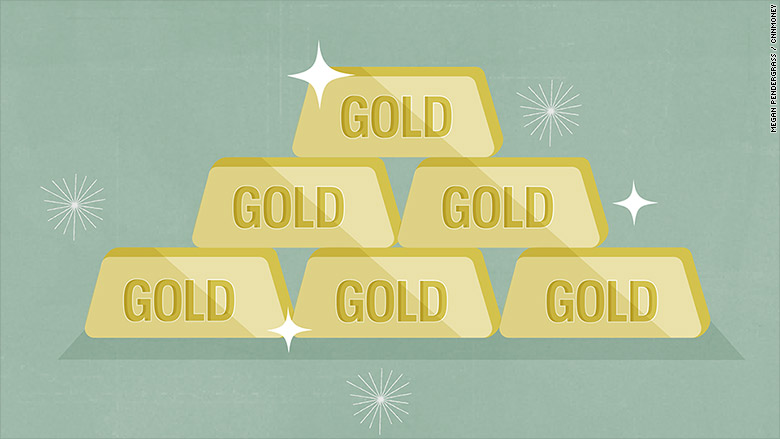 gold bars illustration