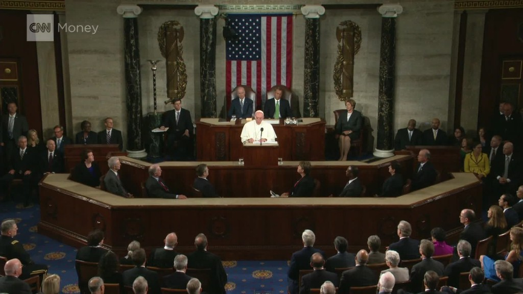 Pope to Congress: Remember the poor