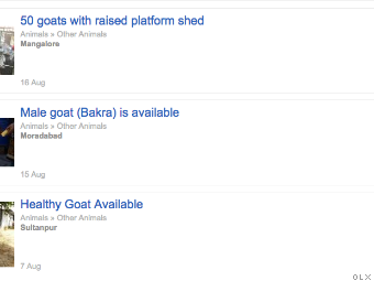 India tests limits of e-commerce with live goat sales