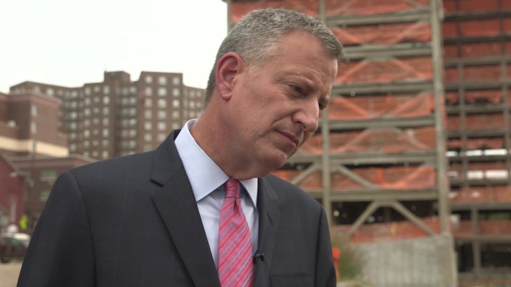 NYC's de Blasio: 'There is a danger in not raising minimum wage'