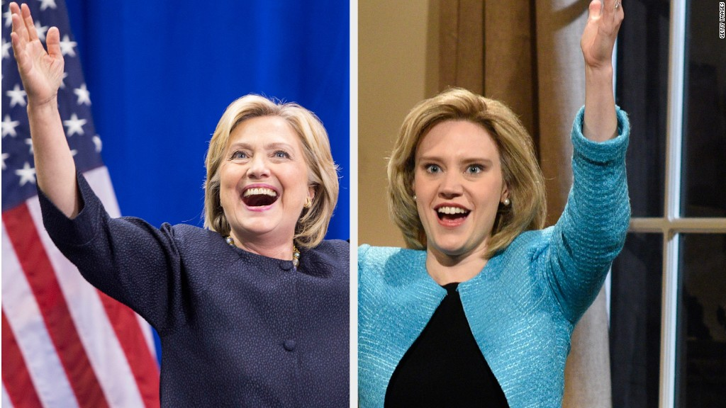 Clinton imitates Trump on 'SNL'