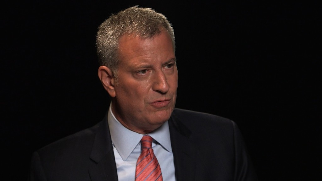 NYC Mayor: Minimum wage must be $15 an hour