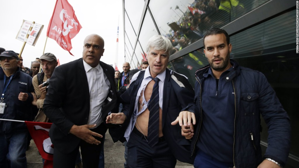 When protests go bad: Air France execs flee protesters
