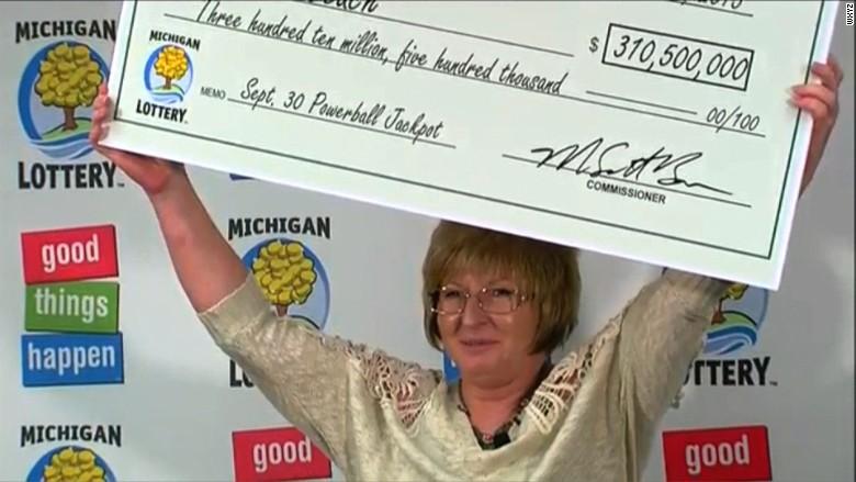 Julie Leach Michigan Powerball winner
