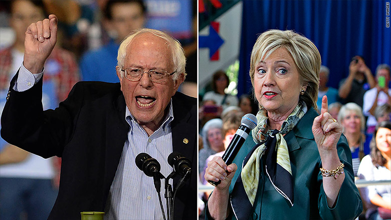 sanders clinton split