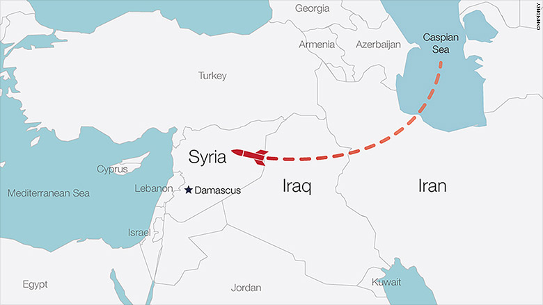 syria missiles map