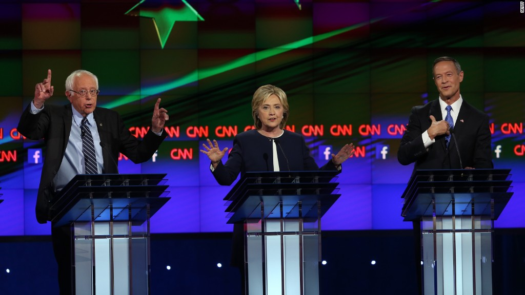 Democratic candidates debate Glass-Steagall