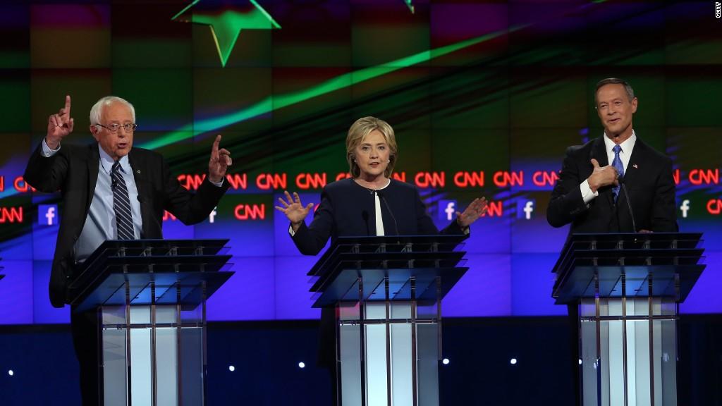 Democratic candidates debate Glass-Steagall