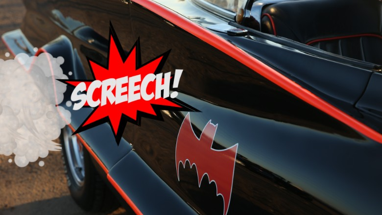 batmobile bat detail screech gfx