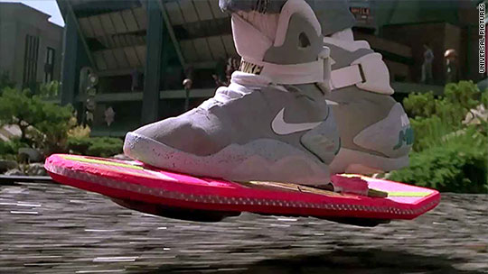 sale retailer 97b99 883bc Michael J. Fox sports Back to the Future shoes on Kimmel sho