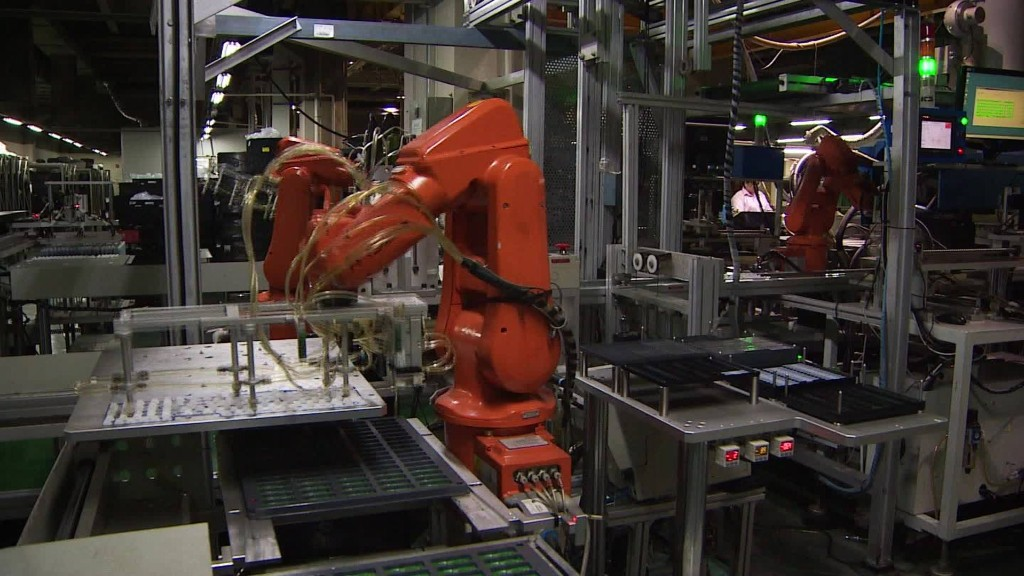 Robots are taking over China's factory floors