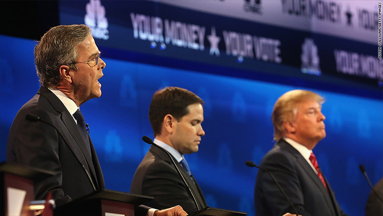 cnbc gop debate bush rubio trump