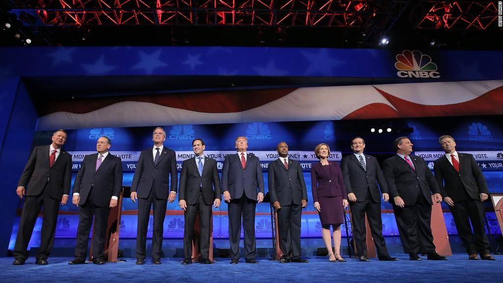 The CNBC Republican debate in 3 minutes